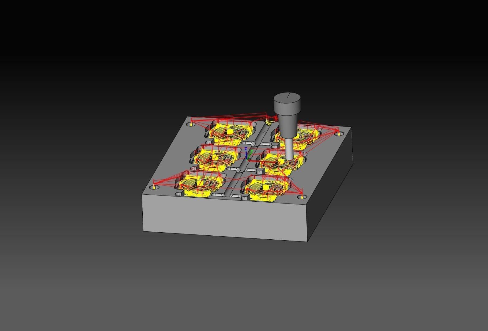 3D CAM centro de mecanizado
